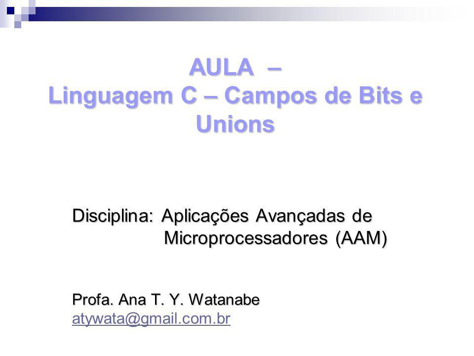 AULA – Linguagem C – Campos de Bits e Unions