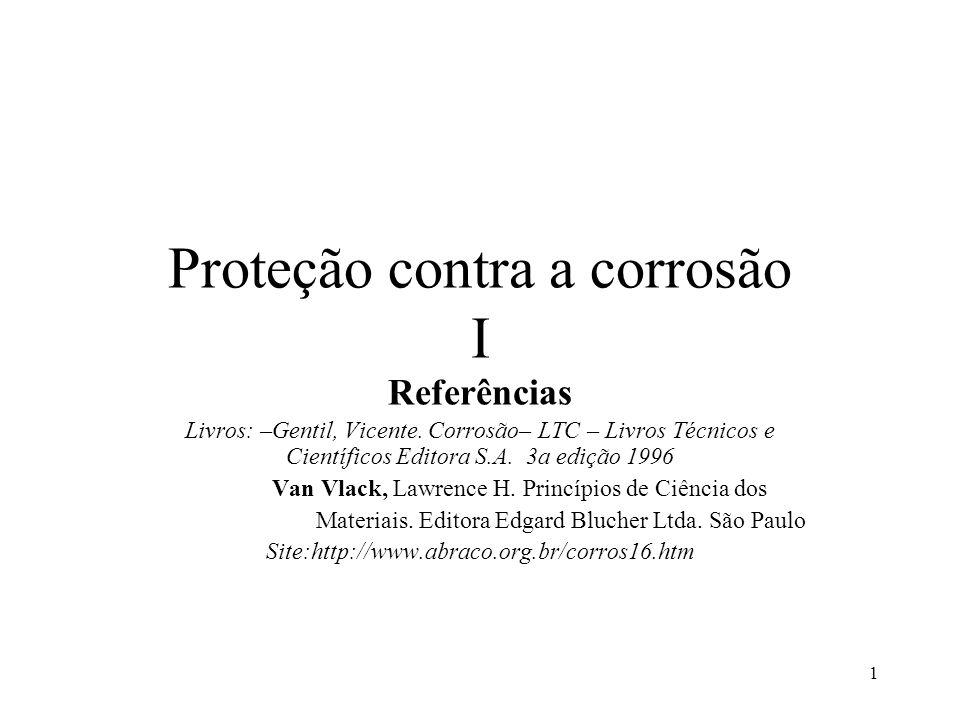 Proteção contra a corrosão I