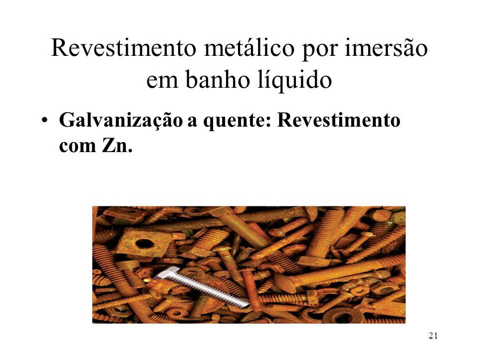 Revestimento metálico por imersão em banho líquido