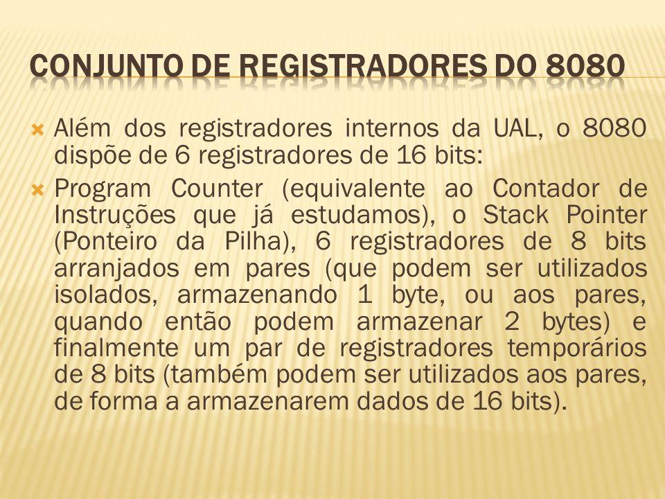 CONJUNTO DE REGISTRADORES DO 8080