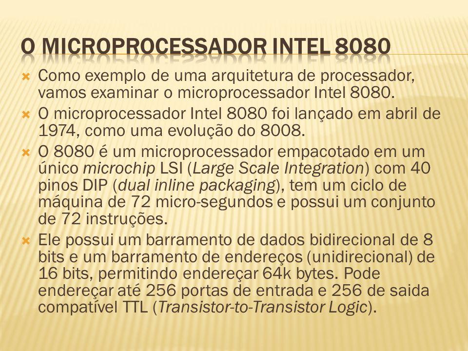 O MICROPROCESSADOR INTEL 8080