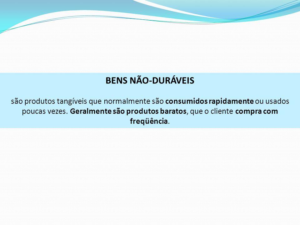 BENS NÃO-DURÁVEIS