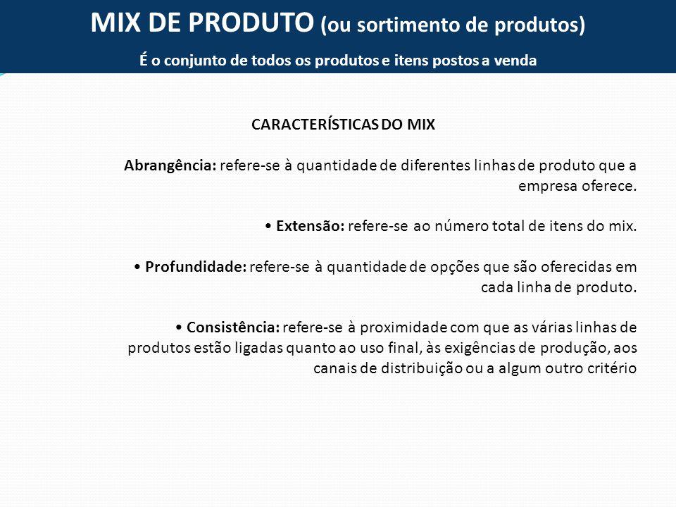 MIX DE PRODUTO (ou sortimento de produtos)
