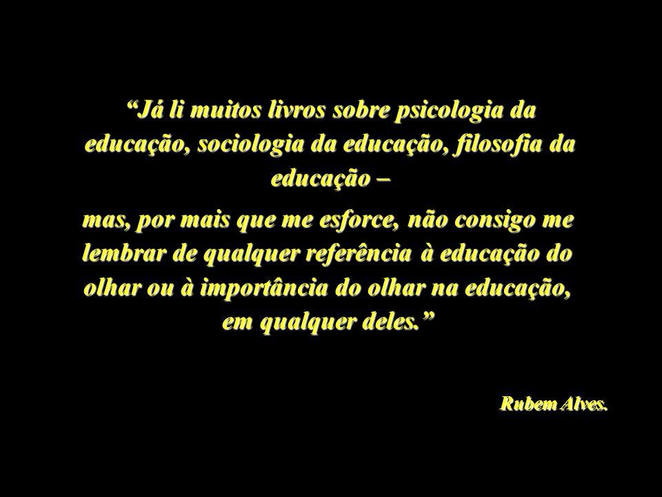 Já li muitos livros sobre psicologia da educação, sociologia da educação, filosofia da educação –