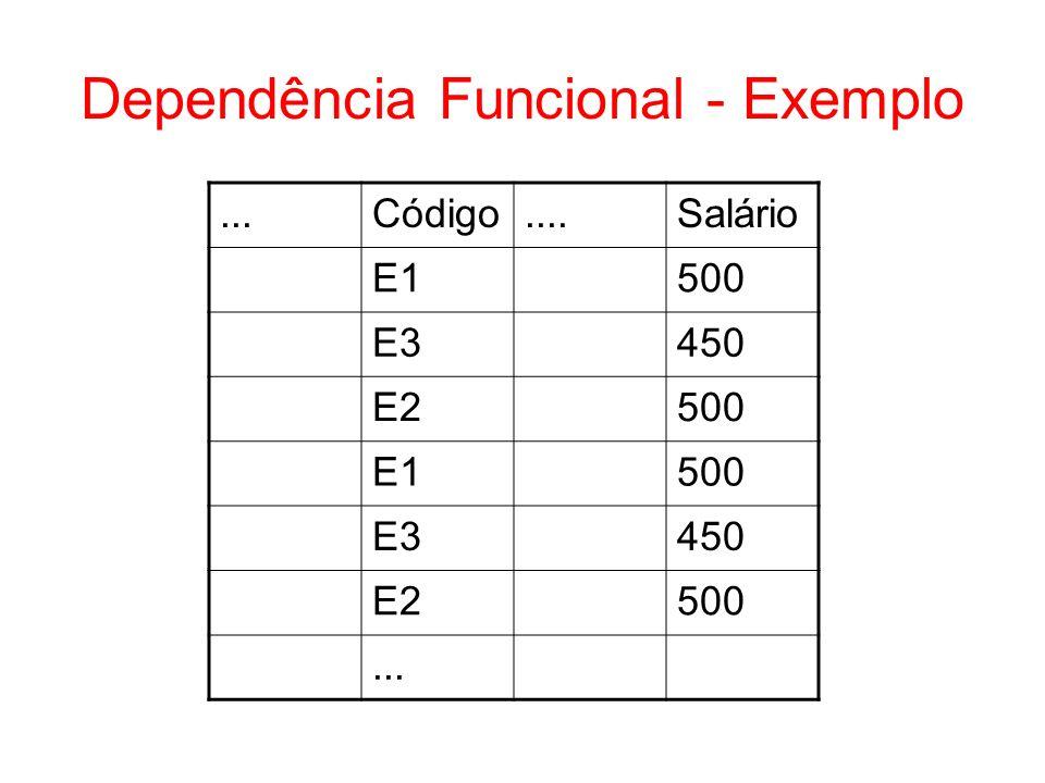 Dependência Funcional - Exemplo