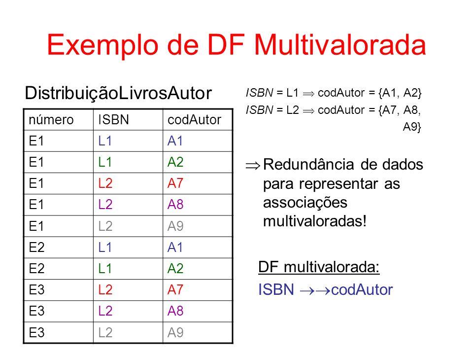 Exemplo de DF Multivalorada