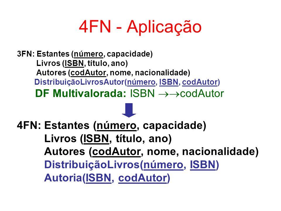 4FN - Aplicação DF Multivalorada: ISBN codAutor
