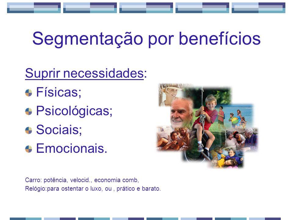 Segmentação por benefícios