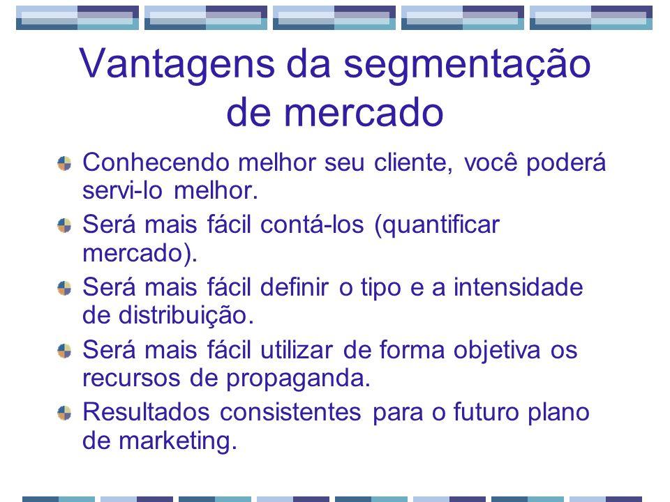 Vantagens da segmentação de mercado