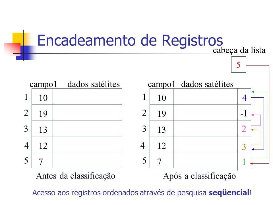 Encadeamento de Registros