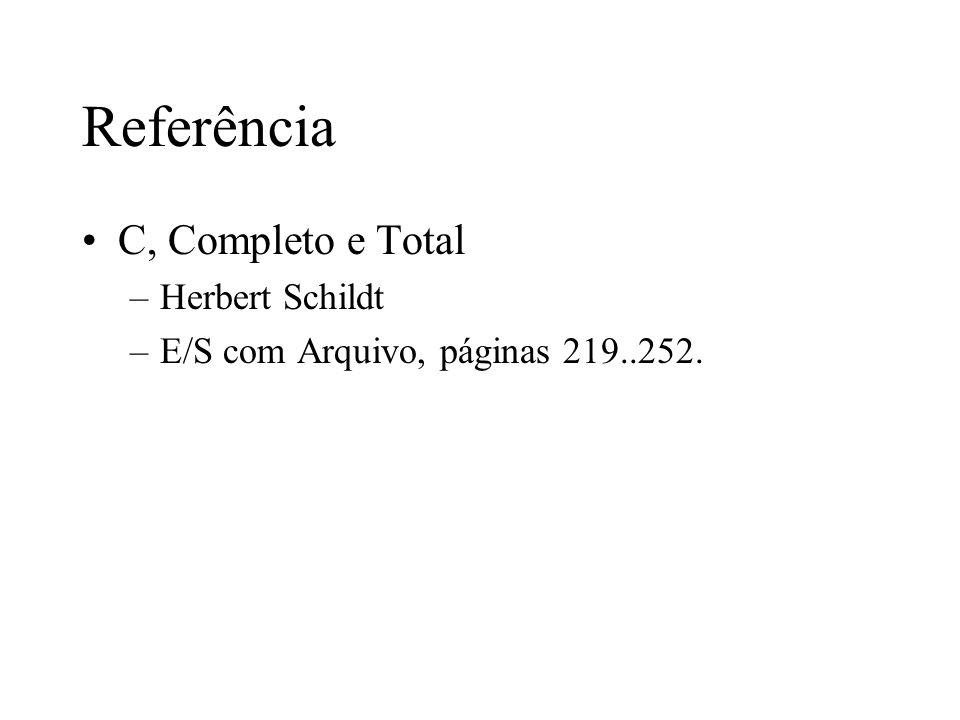 Referência C, Completo e Total Herbert Schildt