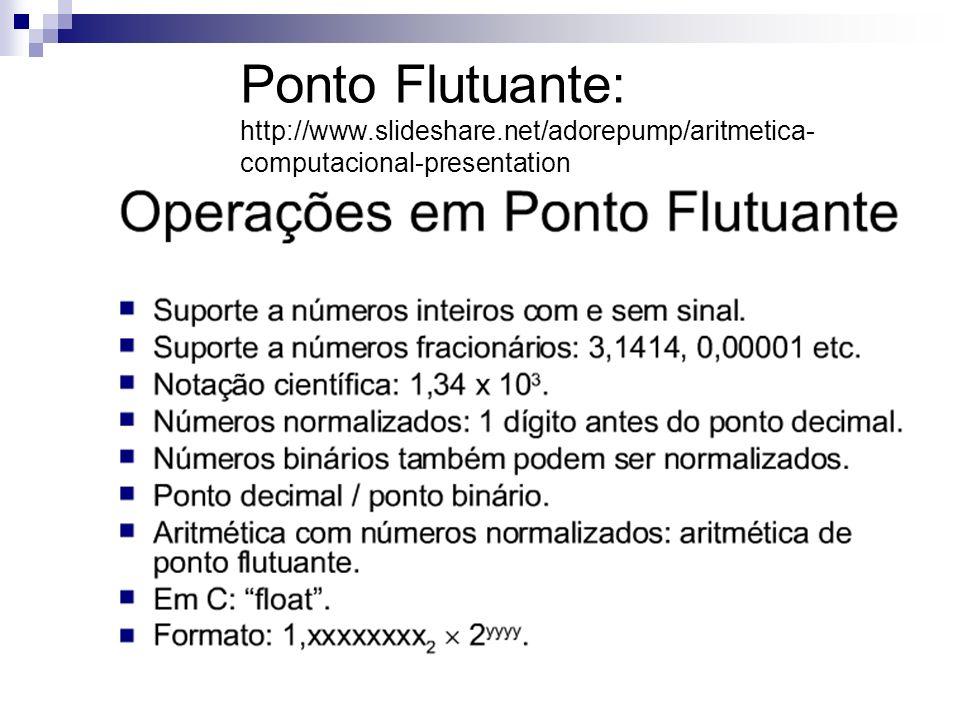 Ponto Flutuante: http://www. slideshare
