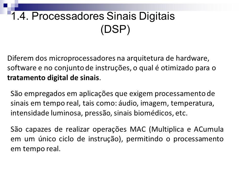 1.4. Processadores Sinais Digitais (DSP)
