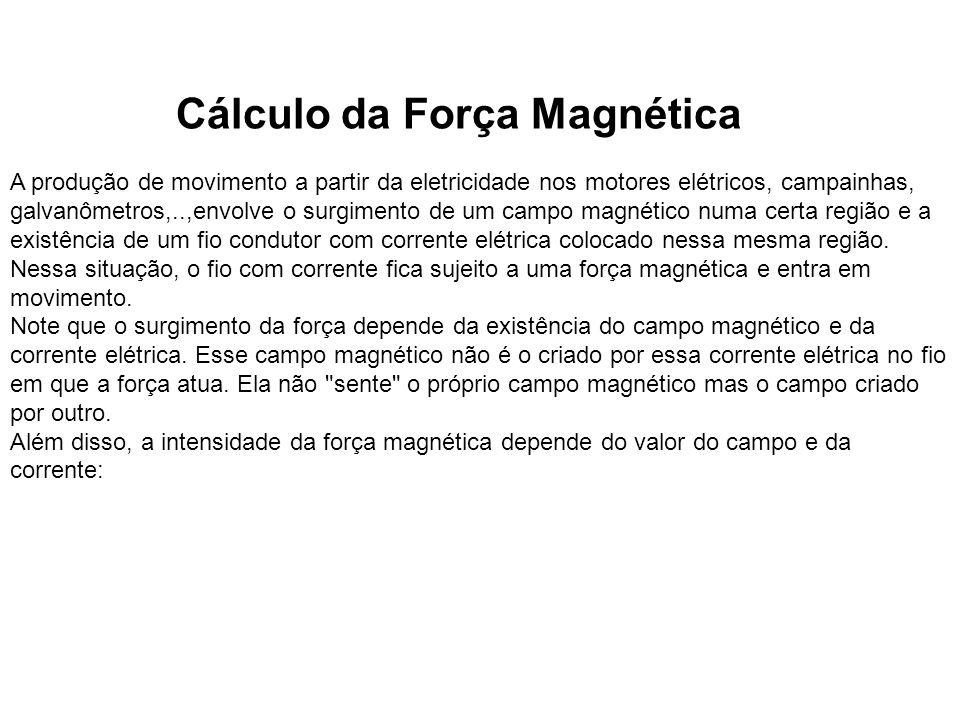 Cálculo da Força Magnética