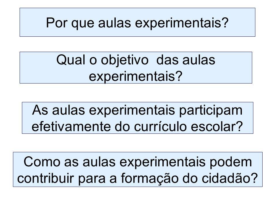 Por que aulas experimentais