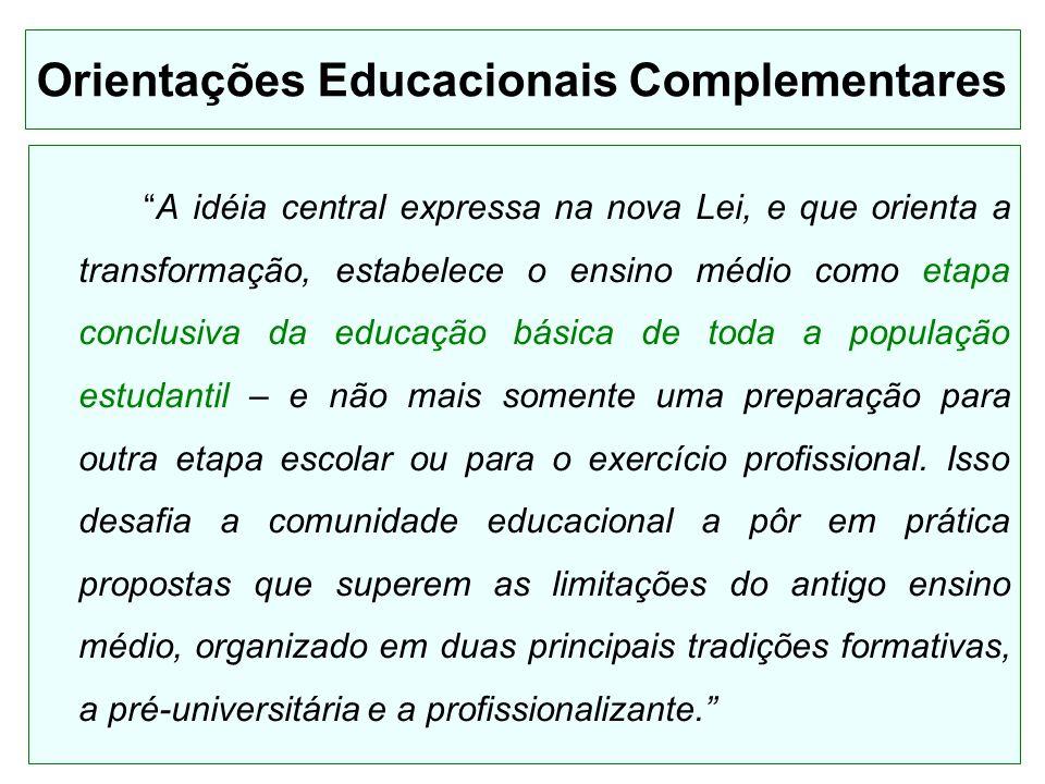 Orientações Educacionais Complementares