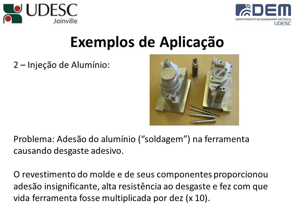 Exemplos de Aplicação 2 – Injeção de Alumínio: