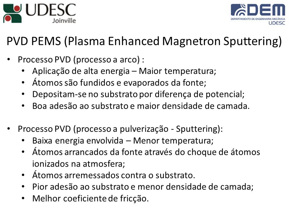 PVD PEMS (Plasma Enhanced Magnetron Sputtering)