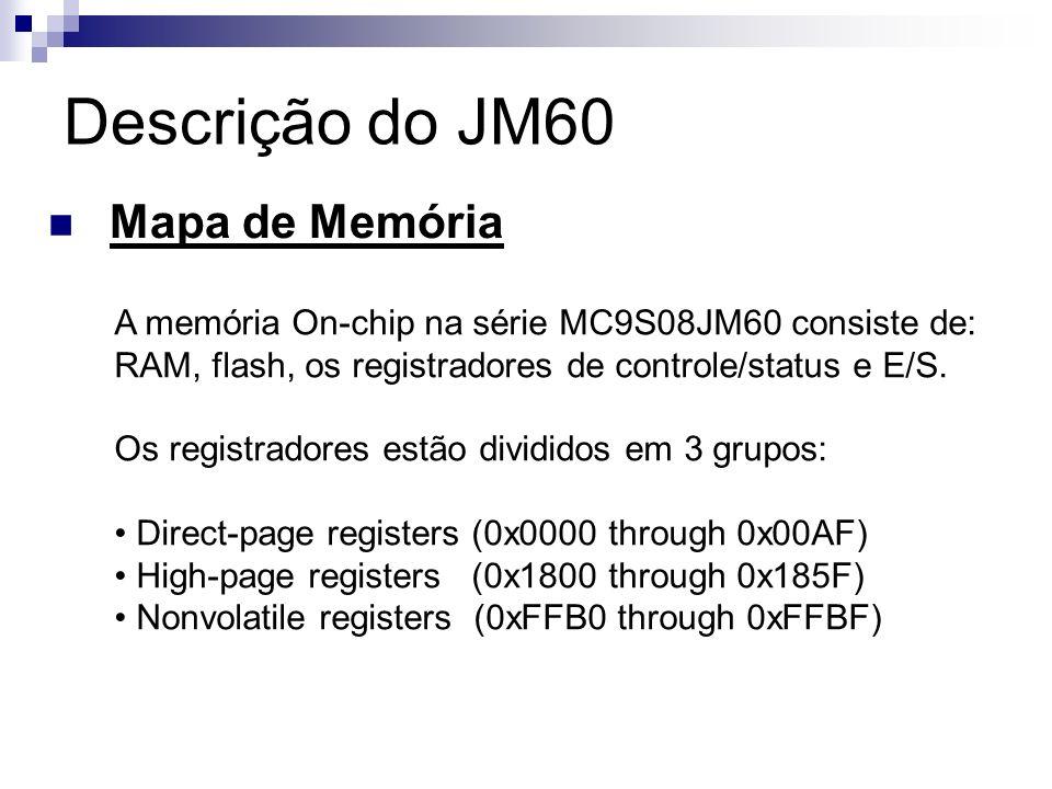 Descrição do JM60 Mapa de Memória