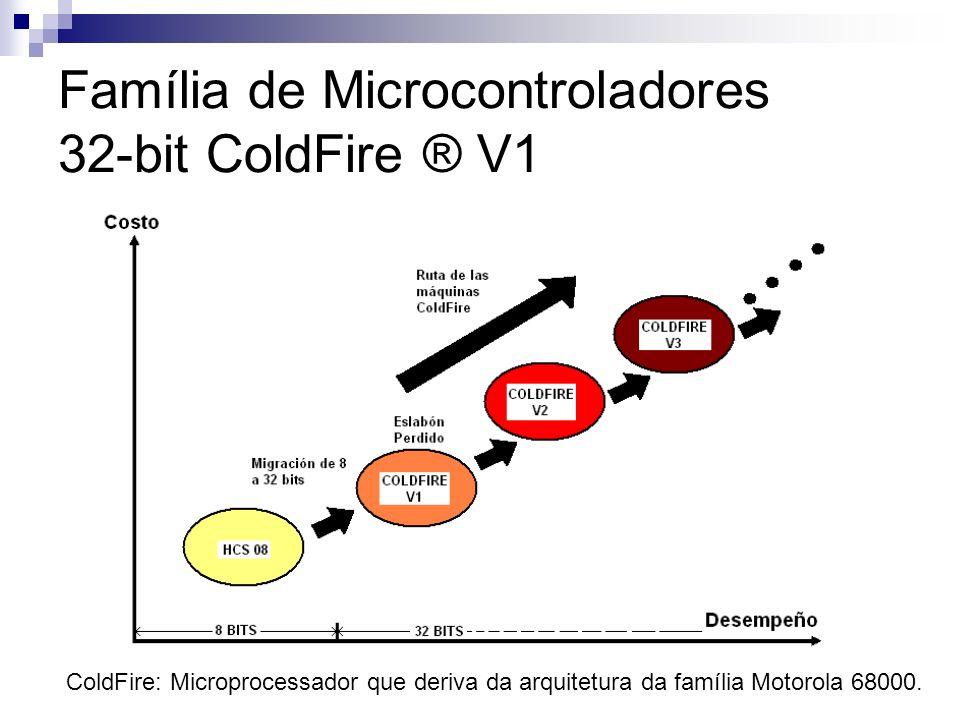 Família de Microcontroladores 32-bit ColdFire ® V1