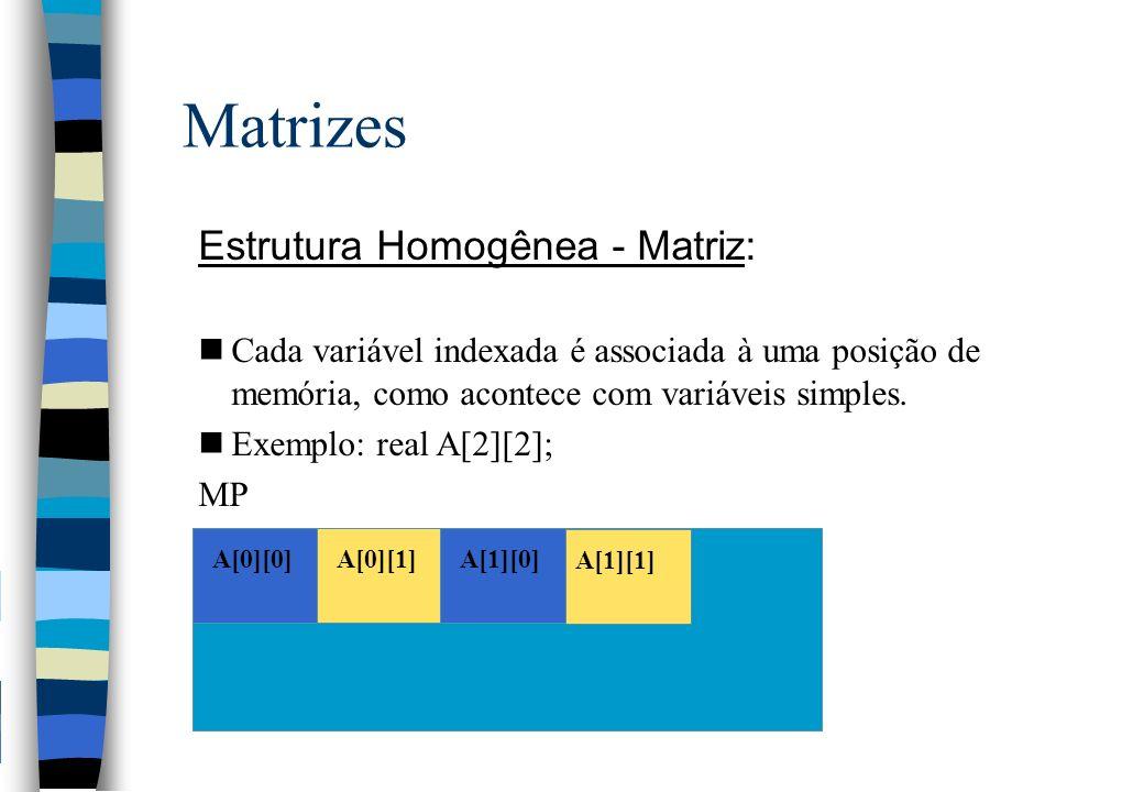 Matrizes Estrutura Homogênea - Matriz: ...
