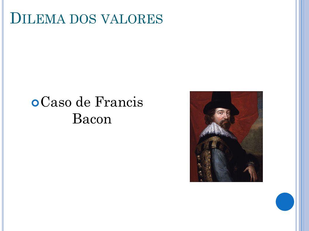 Dilema dos valores Caso de Francis Bacon