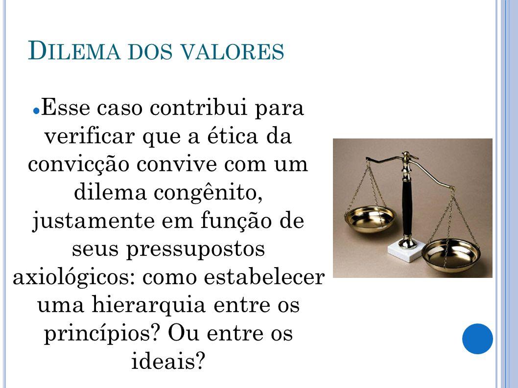 Dilema dos valores