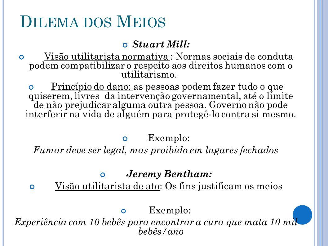 Dilema dos Meios Stuart Mill: