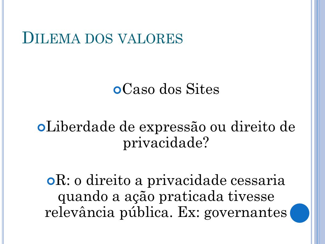 Liberdade de expressão ou direito de privacidade