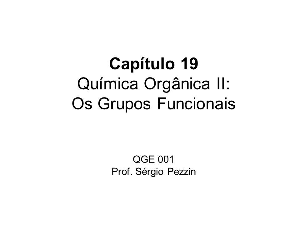 Capítulo 19 Química Orgânica II: Os Grupos Funcionais QGE 001 Prof