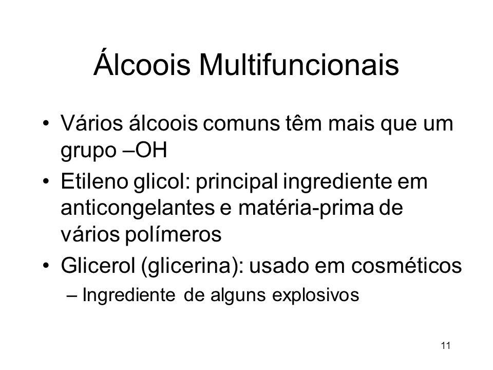 Álcoois Multifuncionais