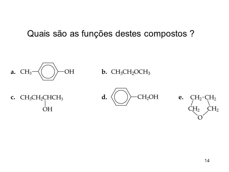 Quais são as funções destes compostos