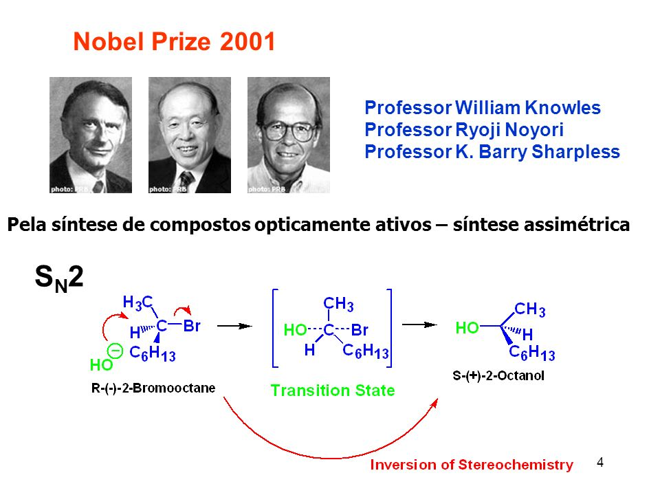 SN2 Nobel Prize 2001 Professor William Knowles Professor Ryoji Noyori