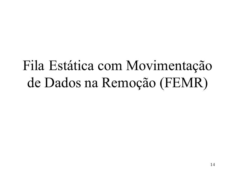 Fila Estática com Movimentação de Dados na Remoção (FEMR)