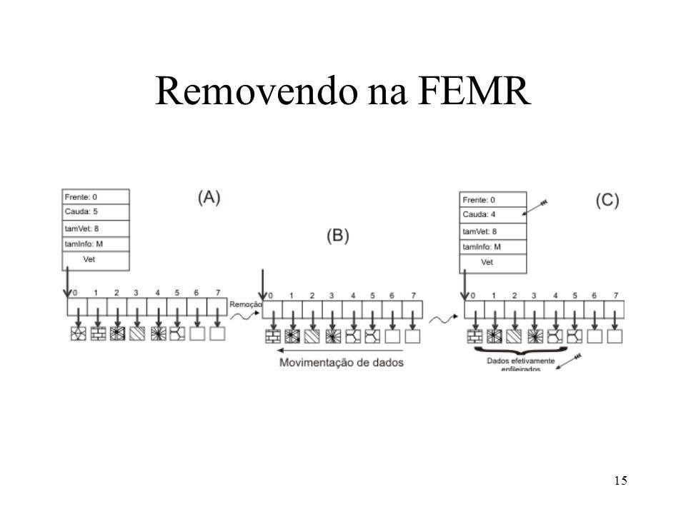Removendo na FEMR