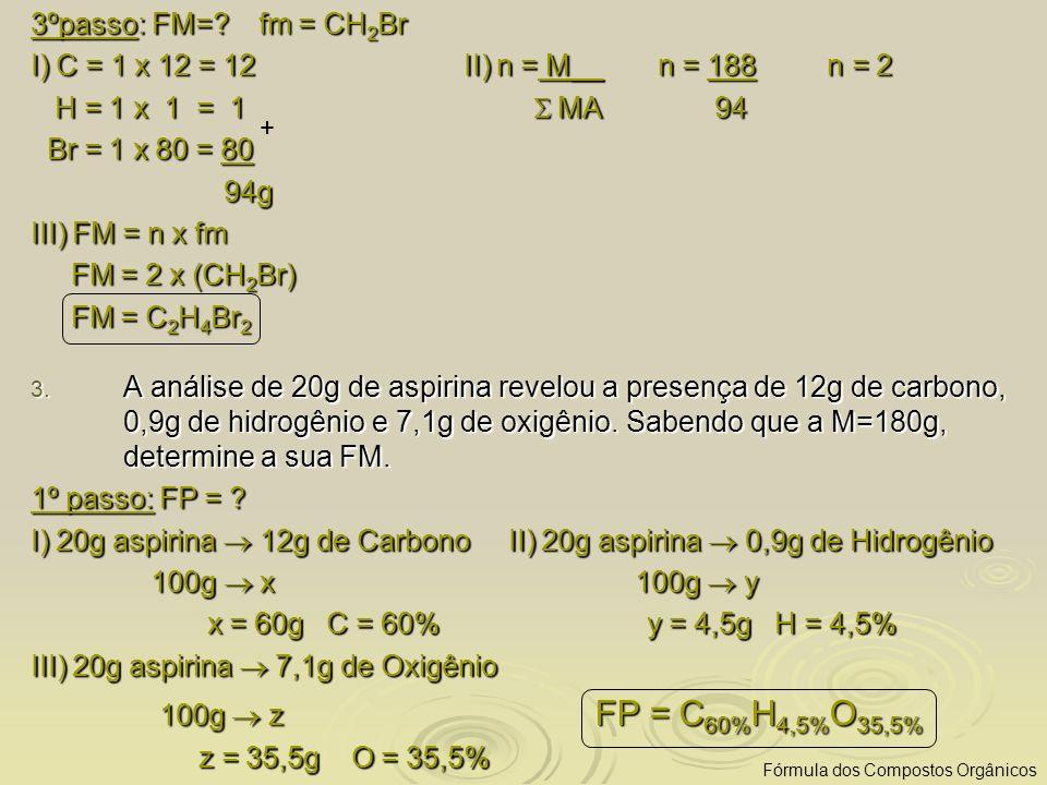 I) 20g aspirina  12g de Carbono II) 20g aspirina  0,9g de Hidrogênio