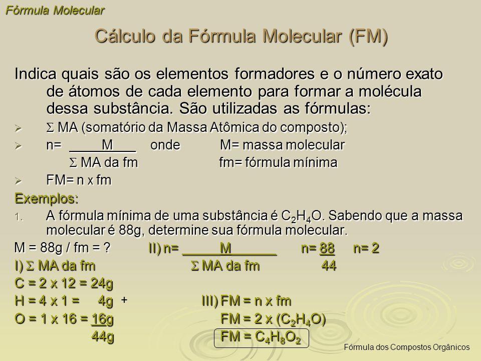 Cálculo da Fórmula Molecular (FM)