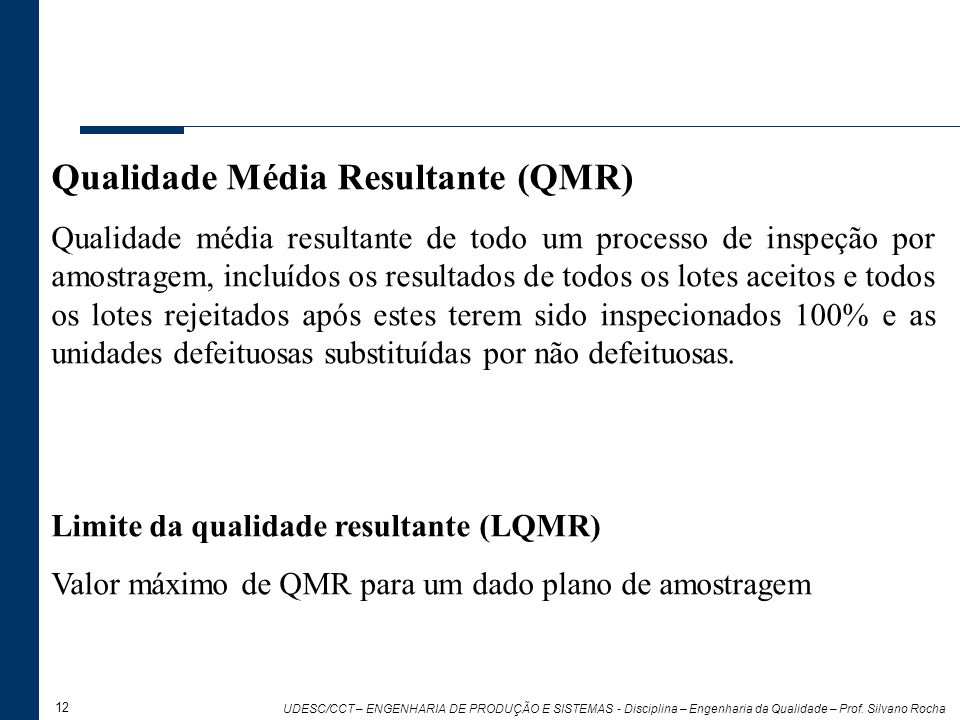 Qualidade Média Resultante (QMR)