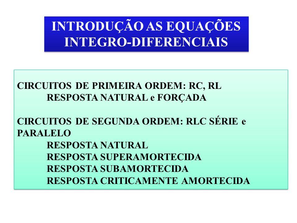 INTRODUÇÃO AS EQUAÇÕES INTEGRO-DIFERENCIAIS