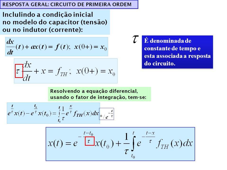 IncluIindo a condição inicial no modelo do capacitor (tensão)
