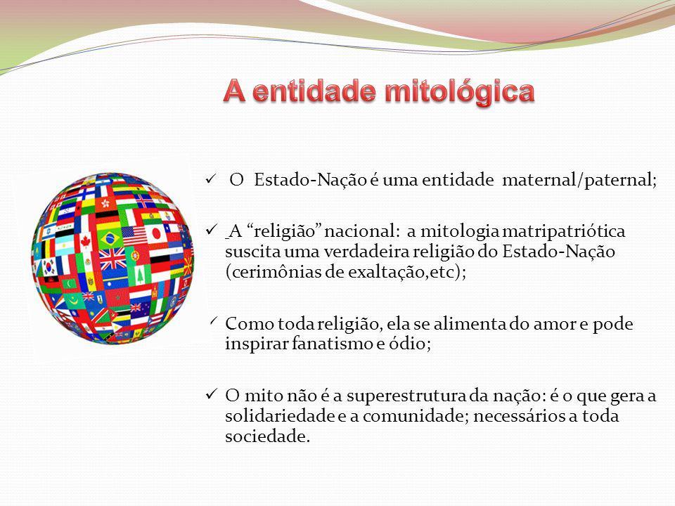 A entidade mitológica O Estado-Nação é uma entidade maternal/paternal;
