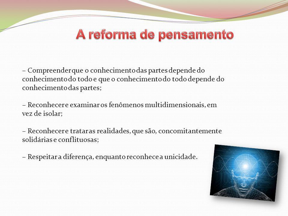 A reforma de pensamento