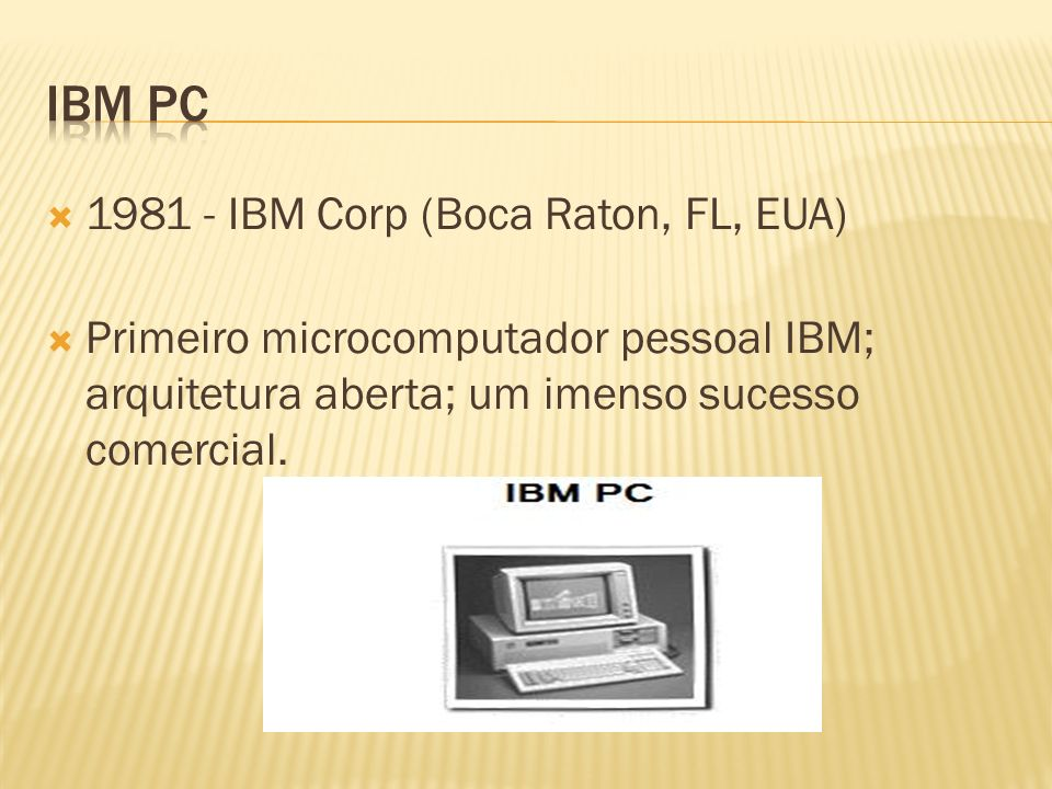 IBM PC 1981 - IBM Corp (Boca Raton, FL, EUA)