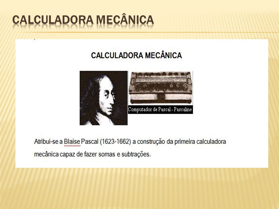 CALCULADORA MECÂNICA