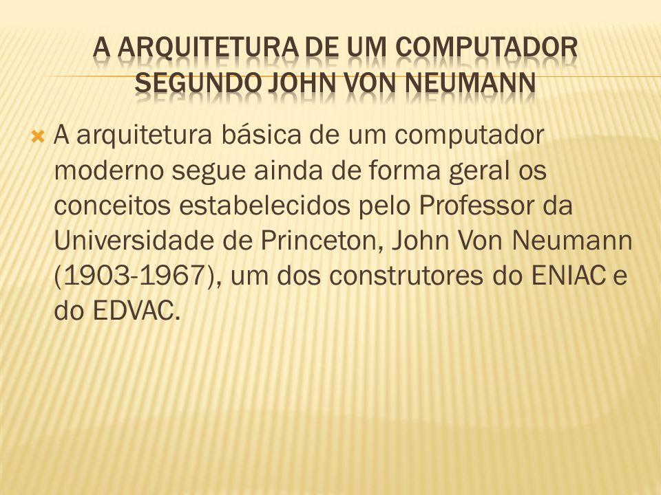 A arquitetura de um computador segundo John Von Neumann