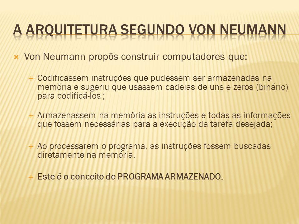 A arquitetura segundo von neumann