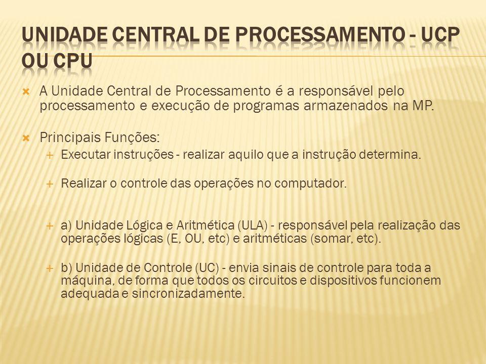 unidade central de processamento - ucp ou cpu