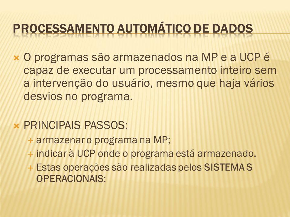 PROCESSAMENTO AUTOMÁTICO DE DADOS