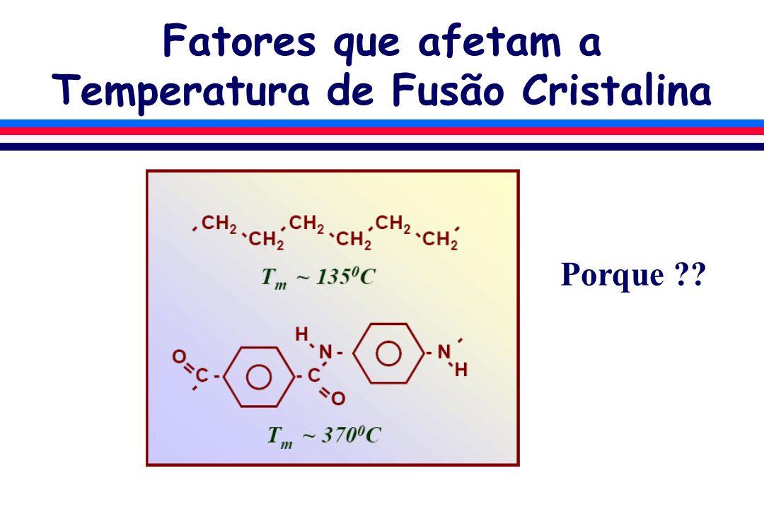 Fatores que afetam a Temperatura de Fusão Cristalina