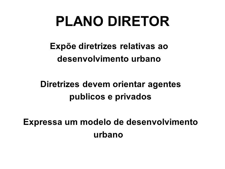 PLANO DIRETOR Expõe diretrizes relativas ao desenvolvimento urbano